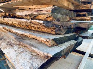 Holzstoß eiche