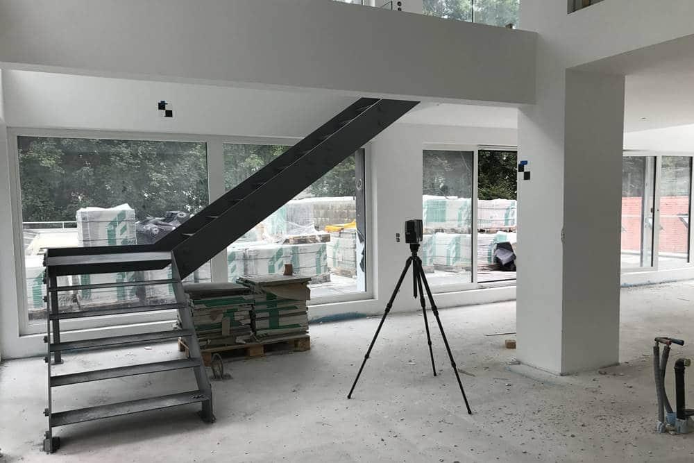 3d scanning im Einsatz im Neubau
