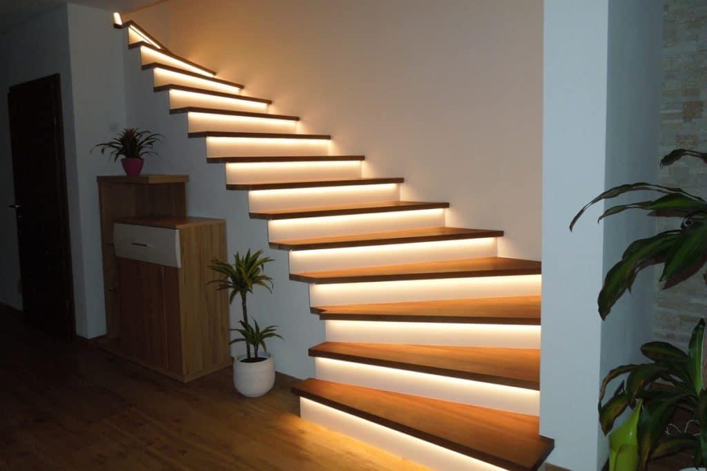 Treppenstufen mit LED