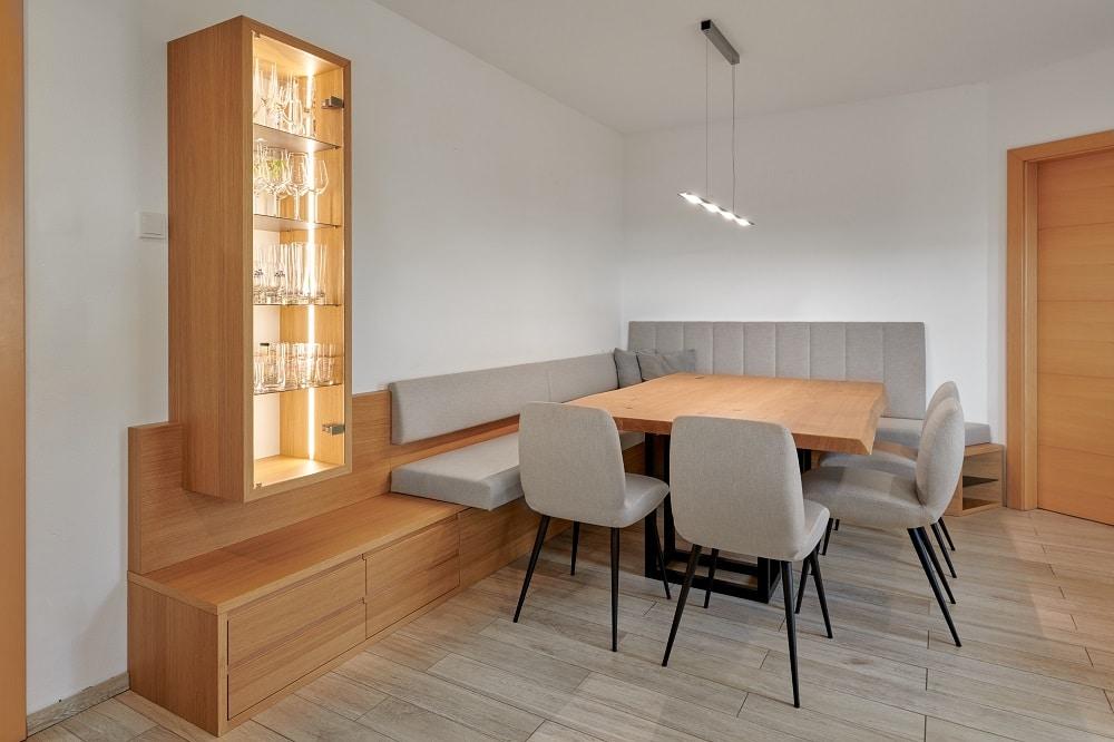 Sitzecke für Küche - Tischplatte aus Eiche Massiv
